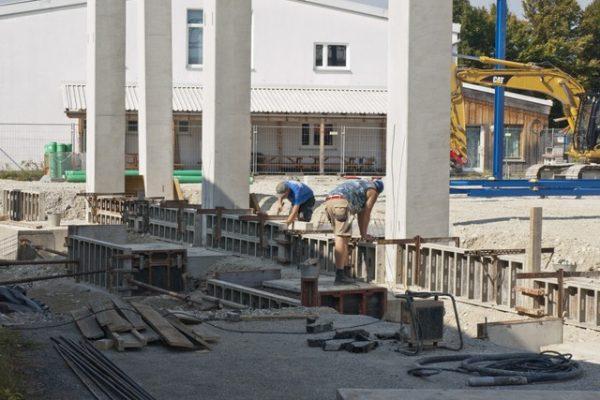 Betonarbeiten Gewerbehalle Trifthof