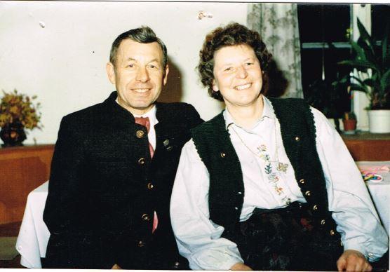 Gründer der Baufirma 1962 Fritz mit Josefine Niederleitner